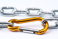Clamp golden mountain Royalty Free Stock Photo