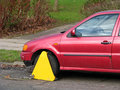 Clamped car Royalty Free Stock Images