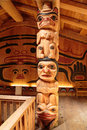 Clan house interior ketchikan ak usa may native american totems and houses located at totem bight state historic site Royalty Free Stock Photography