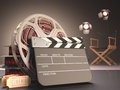 Clapboard concept of cinema Stock Photography