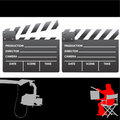 Clapboard and director vector Royalty Free Stock Photos