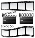Clapboard and film Royalty Free Stock Photo