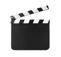 Clapboard isolated on white Royalty Free Stock Photo