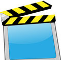 Clapboard with LCD Screen Royalty Free Stock Images