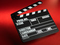 Clapper board Stock Photos
