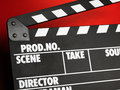 Clapper board Stock Image