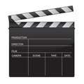Clapper board illustration Royalty Free Stock Photo