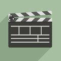 Clapper board minimalistic illustration of a symbol for film and video Royalty Free Stock Photos
