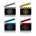 Clapper board set Royalty Free Stock Images