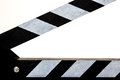 Clapperboard with detail view and white background Stock Photography