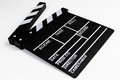 Clapperboard view on white background Stock Images