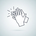 Clapping hand icon, illustration vector sign symbol