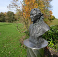 Clara schumann in baden baden germany bust city ​​park Stock Photography