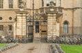 Clare college gates of cambridge university Stock Images