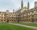 Clare college with kings chapel in the background Stock Photography