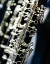 Clarinet angular silver detail view Stock Photo