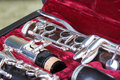 Clarinet in case Royalty Free Stock Photo