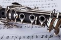 Clarinet and musical note Royalty Free Stock Photo