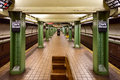 Clark street subway station brooklyn new york march mta in the heights area of Royalty Free Stock Photos