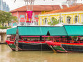 Clarke Quay, historical quay on the Singapore River Royalty Free Stock Photo