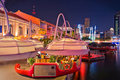 Clarke Quay Night at Singapore Stock Photography