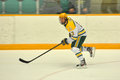 Clarkson #13 in NCAA Hockey Game Royalty Free Stock Photo
