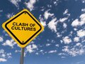 Clash of cultures traffic sign Royalty Free Stock Photo
