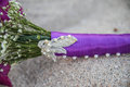 Clasp on flower bouquet Royalty Free Stock Photo