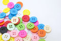 Clasper buttons of various colors Stock Photography