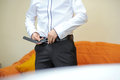 Clasping Belt Royalty Free Stock Photo