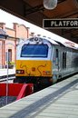 Class loco in station birmingham chiltern railways alongside the platform moor street railway england uk western europe Royalty Free Stock Photos