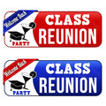 Class reunion banners on white background vector illustration Stock Image