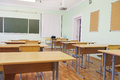 Class room interior of a Stock Image