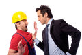 Class struggle manager and worker Royalty Free Stock Photo