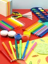 Classes in crafts and art Royalty Free Stock Photo