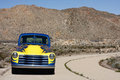 Classic 1953 truck on old highway Royalty Free Stock Photo