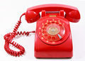 Classic 1970 - 1980 retro dial style red house tel Stock Images