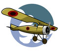 Classic airplane a illustration of Royalty Free Stock Image