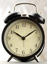 Classic alarm clock black and white Stock Photography