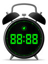 Classic alarm clock with digital display Stock Photography