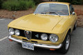 Classic alfa front view angle s romeo gt veloce side grill headlamps Stock Images
