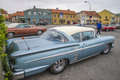Classic amcar chevrolet impala the image is shot at a fish market in halden norway where there every wednesday during the summer Royalty Free Stock Image
