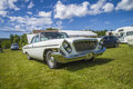 Classic amcar chrysler newport the image is shot by dawn at the farm in halden norway Stock Photography