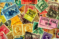 Classic America postage stamps Royalty Free Stock Photo