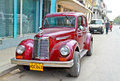 Classic american car in Havana. Royalty Free Stock Images