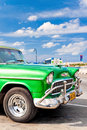 Classic american car parked in Havana Royalty Free Stock Image
