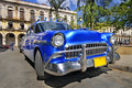 Classic american car in the street of havana Stock Photo