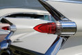 Classic american car tail lamps pointy on cadillac Stock Photos