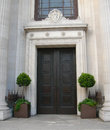 Classic architecture in london with front entry door uk Royalty Free Stock Image
