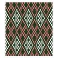 Colourful Classic Modern Argyle Seamless Print Pattern